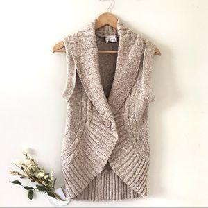 Pink Rose Sweater Vest Blush Pink/Rose Color Sz M